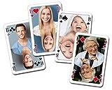 Canasta & Rommé Karten - Alle Karten individuell mit Ihren Fotos und Texten bedruckt / 2*55 Karten / Format 59*91mm / Klarsichtetui - Das perfekte Geschenk für alle Kartenspieler