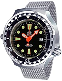 Very big 52mm Automatic Diver-Helium Velve- Sapphire- Milanaise strap T0255MIL
