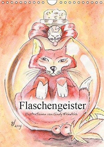 Flaschengeister (Wandkalender 2019 DIN A4 hoch): Kalender mit lustigen Illustrationen von Tieren in Flaschen (Monatskalender, 14 Seiten ) (CALVENDO Tiere)