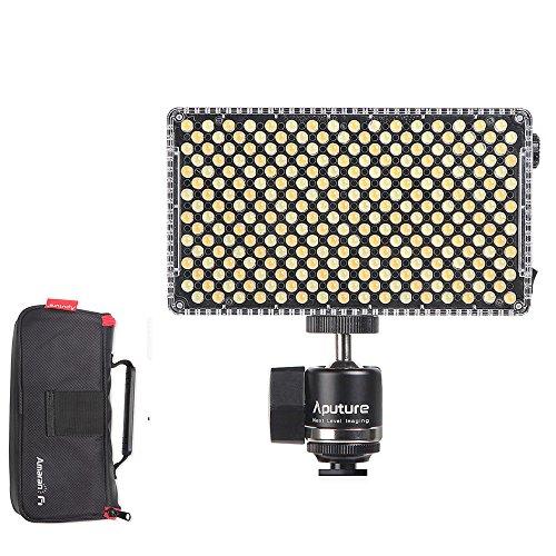 Aputure Amaran AL-F7 auf Kamera LED Video Licht Farbtemperatur 3200-9500K CRI/TLCI 95+ LED-Panel Vielseitige on-Kamera LED-Licht (aktualisierte Version von Aputure Al-H198) (Mount Fixture 1 Licht)