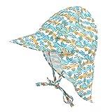 LACOFIA Sombrero de Playa de protección Solar para bebé Gorro de Verano de Solapa Ajustable Super Suave para niños Ballena 2-5 años
