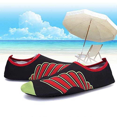 Xinyi (Aqua à l'eau Chaussures de plage de natation Séchage rapide Slip on Chaussures de yoga Chaussettes de peau pour Unisexe, Tissu, A14, XL39-40 A5