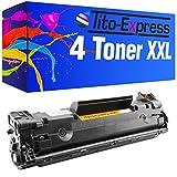 4x Tito-Express PlatinumSerie XXL Toner kompatibel zu HP CE278A