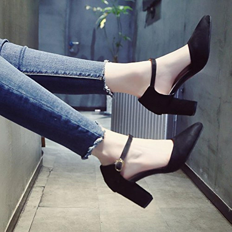YMFIE Au Printemps et en été, la Mode Rugueuse est Rugueuse Mode avec Le Haut Le Daim Le Creux Peu Profond Les Chaussures  s...B07D5C2WRHParent 580442