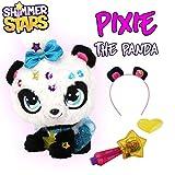 Shimmer Stars S19300 Pixie Panda Plüschtier, Schwarz, Weiß