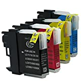 Win-Tinten Kompatibel Tintenpatronen Brother LC-1100 LC-980 für Brother DCP-145C 163C 365CN 373CW 375CW 377CW 383C 385C 387C 395CN 585CW 6690CW Drucker