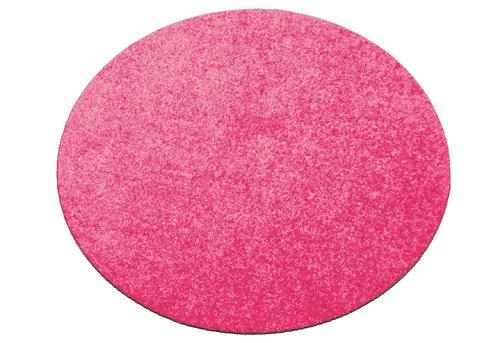 Fußmatte / Dekomatte / Schmutzfangmatte, rund, 80 cm Durchmesser, pink, Höhe 8 mm, waschbar, rutschfest, Sauberlaufmatte ,Teppich,...