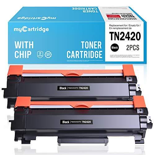 MyCartridge 2 Pack TN-2420 ucce di Toner Compatibili Brother TN-2420 per Brother HL-L2350DW DCP-L2530DW HL-L2370DN MFC-L2710DN HL-L2370DN HL-L2375DW MFC-L2710DW