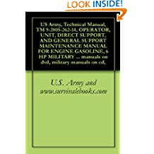 US Army, Technical Manual, TM 9-2805-262-14, OPERATOR, UNIT, DIRECT SUPPORT, AND GENERAL SUPPORT MAINTENANCE MANUAL FOR ENGINE GASOLINE, 6 HP MILITARY ... manuals on dvd, military manuals on cd,