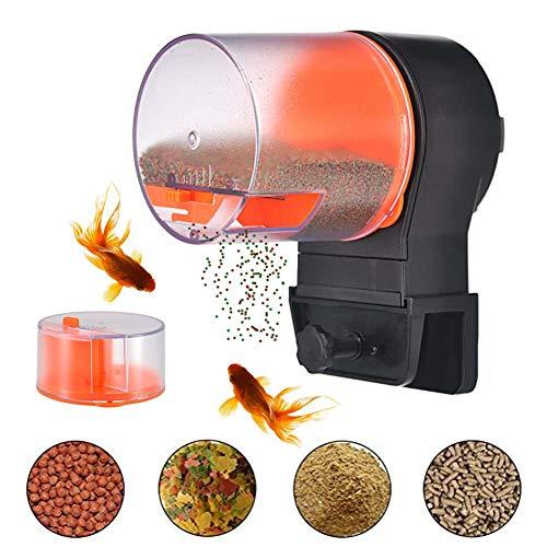 Automatische Aquarium Tank Timer Feeder Urlaub Fischfütterung für Flocken Elektrische automatische Schildkröte/Goldfisch für Wochenende oder Urlaub mit 2 Fischfutterspendern