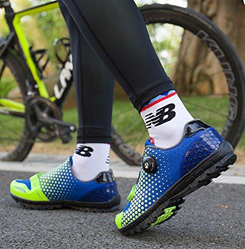 Mountain Da Pannelli Bike Rete Blu Gomnear Ciclismo Verdi Di Traspiranti Scarpe Scarpe Ginnastica Con R1EqwXq