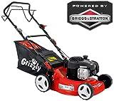 Grizzly Benzin Rasenmäher - Briggs & Stratton Motor 300 E Series - Hinterradantrieb - (42cm Schnittbreite, 5-fach zentrale Höhenverstellung)
