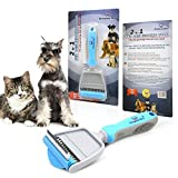 51iJoRWm3NL. SL160  - NO.1 BEAUTY# Dog Grooming Brush With FREE EBOOK! 2-in-1 Professional Pet Deshedding Tool, Cat Grooming Tool. Superb Design - COMB For Your Pet's Loose Undercoat Hair And RAKE For Detangling And Dematting Longer Thicker Hair. One Of The Best Cat Grooming Tools Available! Dramatically Reduces Hair Amounts Around Your House. Your Pet Will Love It Due To The Manufacturing Quality. Size - SMALL (6cm Wide Comb) For Smaller Dogs, Cats, Rabbits. 100% Satisfaction Guaranteed. Reviews  Best Buy price