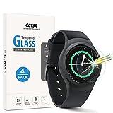 OOTSR (4 Stück) Panzerglas Schutzfolie für Samsung Gear Sport/Gear S2, Bildschirmschutzfolie für Samsung Gear S2 / Sport [Kratzfest] [Transparent] [Blasenfrei]