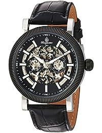 Burgmeister Armbanduhr für Herren mit Analog Anzeige, Automatik-Uhr und Lederarmband - Wasserdichte Herrenuhr mit zeitlosem, schickem Design - klassische Uhr für Männer - BM221-622 Omaha