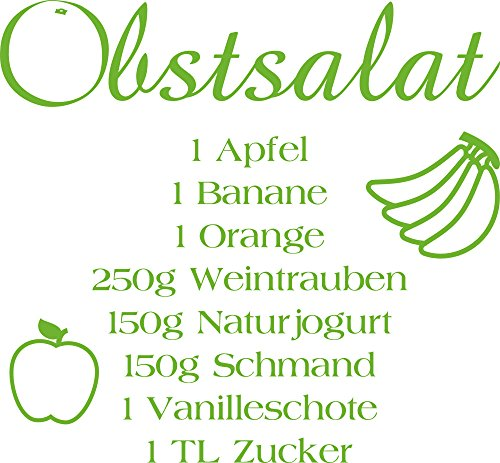 GRAZDesign Kreatives Geschenk für Beste Freundin Wandtattoo Obstsalat - Küche dekorieren Obst -...