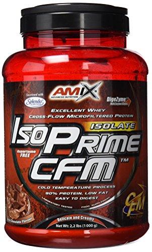 Amix Iso Prime Cfm Isolate Proteína de Suero Lácteo sin Lactosa, Sabor Chocolate   1000 gr