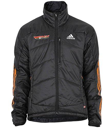 adidas Herren DSV Primaloft Jacke Skijacke Wintersportjacke Cross Country (48, schwarz (black / bright gold f12 / noc dsv))