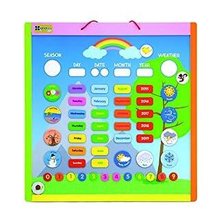 Andreu Toys 41x 42,5x 1,2cm magnetisch Kalender (Mehrfarbig)