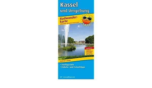 Karte Kassel Und Umgebung.Kassel Und Umgebung Radwanderkarte Mit Ausflugszielen