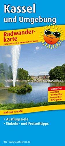 Kassel und Umgebung: Radwanderkarte mit Ausflugszielen, Einkehr- & Freizeittipps, wetterfest, reissfest, abwischbar, GPS-genau. 1:75000 (Radkarte/RK)