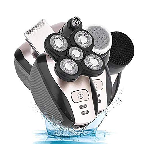 Elektrorasierer 5D Schwimmende Köpfe Waschbar Bart Trimmer Rasierer Multifunktions Haarschneidemaschine Wiederaufladbare Rasur Maschine