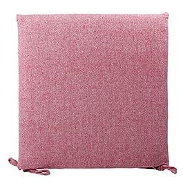 Carrée Chaise Tampon avec Lin Couvercle Détachable Et Sangles, Couleur Unie Lavable Siège Coussin De Chaise Oreiller…