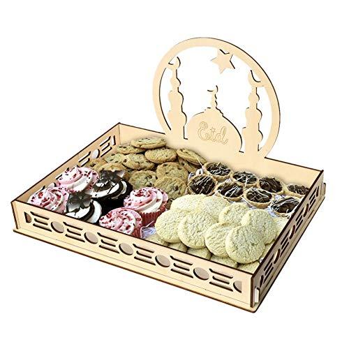 Eid Mubarak Dessert Tablett Holz Hohle Muslim Dekoration DIY Dessert Kunst Kuchen Ramadan Dekoration Geschirr Party Supply für Home Party Supplies (Home Party Supplies)