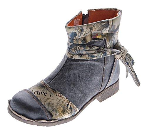 TMA , Desert boots femme Noir - Schwarz Grau
