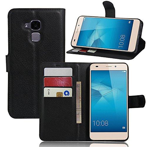 Huawei Honor 5C / Honor 7 Lite / GT3 Hülle, Folio Wallet Case Glitzer Schale Tasche PU Leder Flip Case Klapphülle mit Standfunktion Stoßfest Handyhülle für Huawei Honor 5C / Honor 7 Lite / GT3