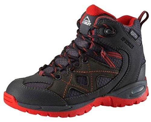 McKINLEY Unisex-Kinder Trekking-Stiefel Cisco II AQX Wanderstiefel, Grau (Anthracite/Red), 37 EU