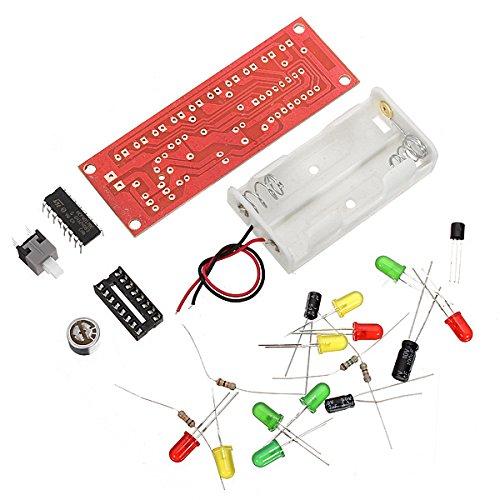 Bluelover CD4017 control de voz LED kit de flasheo electrónico de bricolaje (precio: 4,89€)