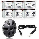 Keenstone 6 Batteries lipo 3,7V 500mAh + 6-Port Chargeur pour Hubsan X4 (H107L H107C H107D H107P H108) Syma X11, Walkera Super CP, V252, JXD385, UDI U816A, JJRC H6C, Mini CP, Genius CP, Holy Stone F180C, GoolRC T5 T5C T5W T5G