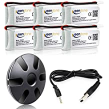 Bateria Hubsan X4 - Keenstone 6 Pcs 3.7V 500mAh 25C Litio batería con cargador de batería de 6 puertos para Hubsan X4 (H107L H107C H107D H107P H108) Syma X11, Walkera Super CP, V252, JXD385, UDI U816A, JJRC H6C, Mini CP, Genius CP, Holy Stone F180C, GoolRC T5 T5C T5W T5G