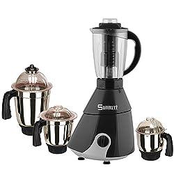 Sunmeet Black Color 600Watts Mixer Juicer Grinder with 4 Jar (1 Juicer Jar with filter, 1 Large Jar, 1 Medium Jar and 1 Chuntey Jar)