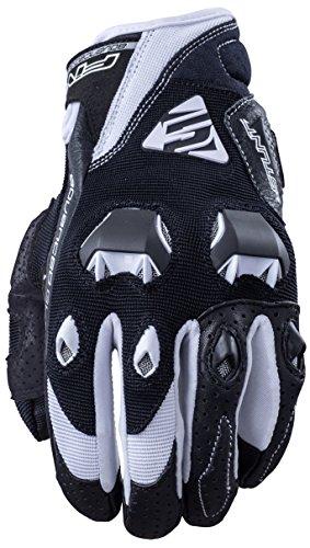 Fünf Advanced Handschuhe Stunt Evo Erwachsene Handschuhe, Schwarz/Weiß, Gr. 12