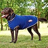 Weatherbeeta Fleece Zip Dog Coat - Navy/Red/White - Size: 60Cm