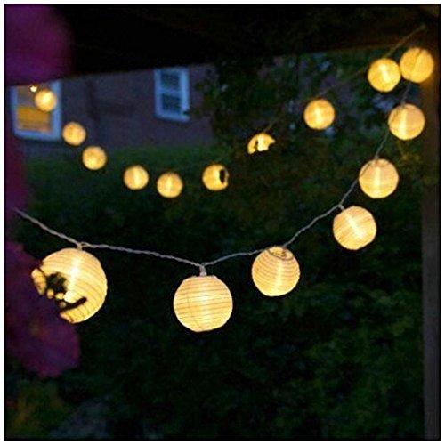 Preisvergleich Produktbild Batterie Lichterkette,  Longra 4.2M 20 LEDs Warm Weiß Globe Außen Lichterkette Batterienbetriebene Lampions Laterne Lichterketten für Weihnachten,  Hochzeit,  Parte im Haus oder Outdoor (Yellow)