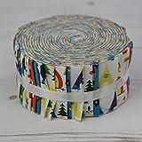 Stoff Freiheit Camping Brights Mixer Jelly Rolls 40Stoffstreifen 100% Baumwolle