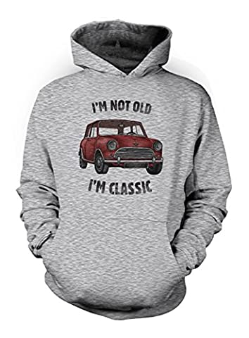 I'm Not Old I'm Classic Vintage Car Herren Hoodie Sweatshirt Grau Large