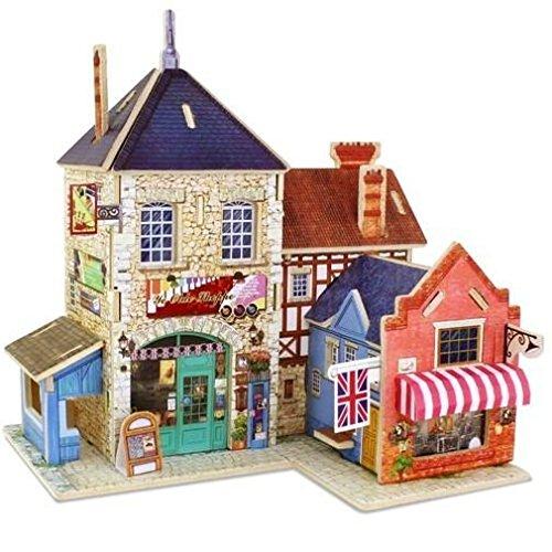 Robo Time F132 27 Piezas British Music Store World Shop Rompecabezas 3D, Multicolor