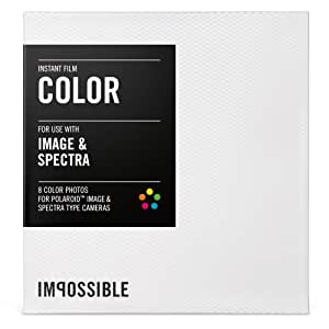 Impossible - 2787 - pellicule couleur pour Polaroid Spectra et Image - cadre blanc - 8 feuilles par boîte