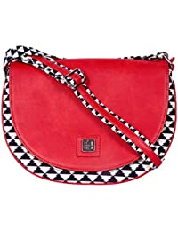 Be For Bag Indigo Chic Women's Sling Bag (Red) - B01LWWVUNC