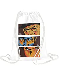 The good the bad and the ugly poster Drawstring bag