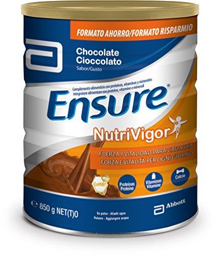 Ensure Nutrivigor sabor chocolate 850g – complemento alimenticio con proteínas, vitaminas, minerales y CaHMB*