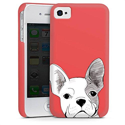 Apple iPhone 5s Housse Étui Protection Coque Bouledogue français Chien Chien Cas Premium mat