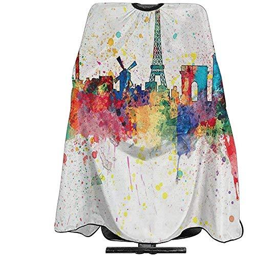 Capa De Peluquería Para París Francia Skyline Art