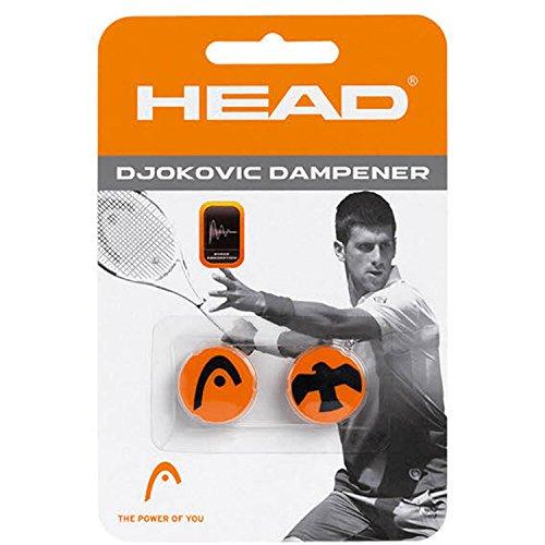 HEAD Djokovic Vibrationsdämpfer, Orange/Schwarz, 2 Stück