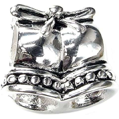 Queenberry Charm in argento Sterling, motivo: Jingle Wedding Bell, stile europeo - Wedding Bells Charm