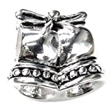 Queenberry Breloque en argent sterling Mariage Jingle Bell Style européen Charm perle